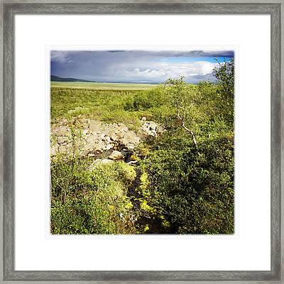 Summer Landscape In Iceland Framed Print