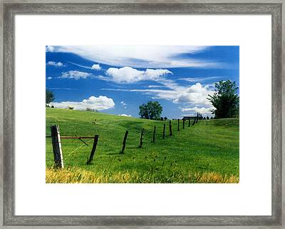 Framed Print featuring the photograph Summer Landscape by Steve Karol