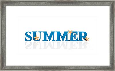 Summer Letters Framed Print
