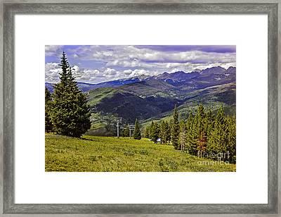 Summer Lifts - Vail Framed Print