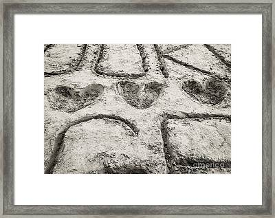 Summer Love - Heart Heart Heart Framed Print