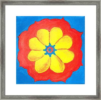 Summer Mandala Framed Print