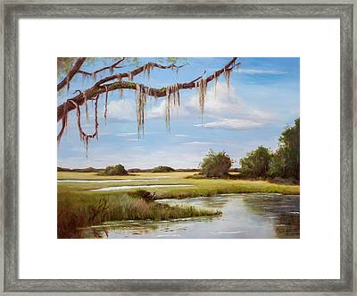 Summer Marsh Framed Print