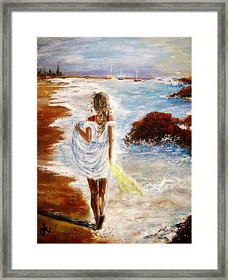 Framed Print featuring the painting Summer Memories by Cristina Mihailescu