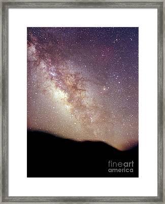 Summer Milky Way Framed Print