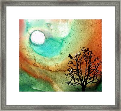 Summer Moon - Landscape Art By Sharon Cummings Framed Print by Sharon Cummings