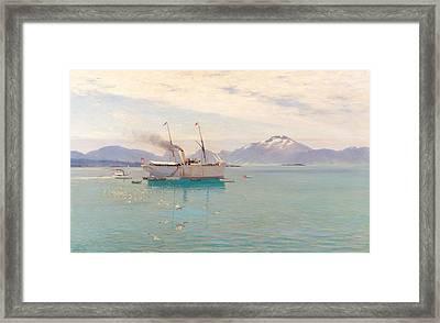 Summer Morning At Molde, 1892 Framed Print
