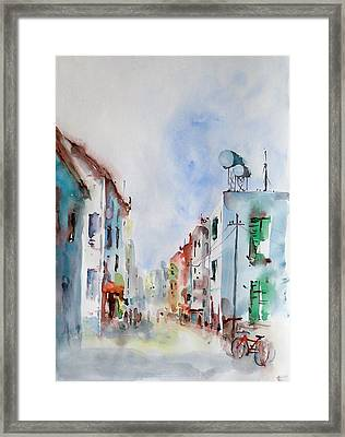 Framed Print featuring the painting Summer Morning by Faruk Koksal