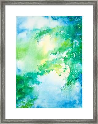 Summer Morning On The Lake Framed Print