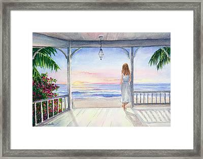 Summer Morning Watercolor Framed Print