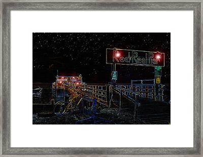 Summer Night At The Pier Framed Print