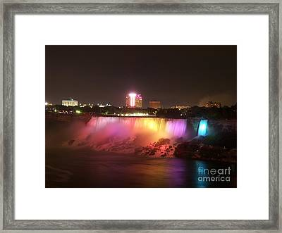 Summer Night In Niagara Falls Framed Print