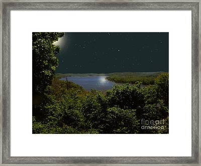 Summer Night On Seventh Sister Framed Print by RC deWinter