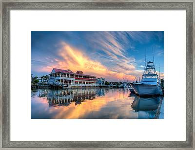Summer Nights On Shem Creek Framed Print