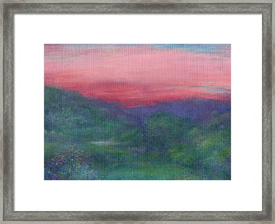 Framed Print featuring the painting Summer Nocturne by Judith Cheng