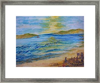 Framed Print featuring the painting Summer/ North Wales  by Teresa White