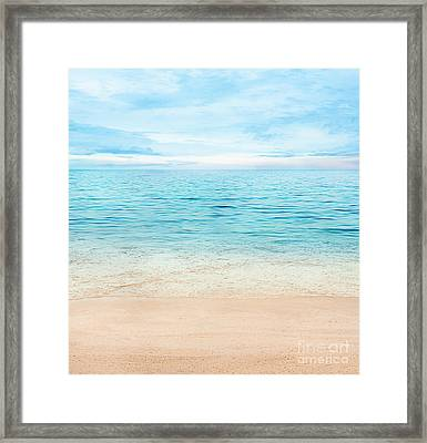 Summer Ocean Framed Print by Mythja  Photography