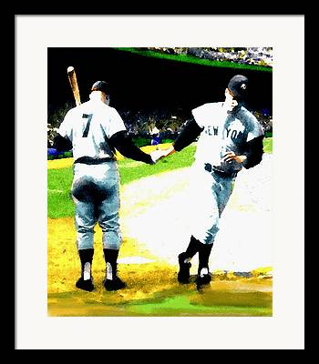 Mickey Mantle Poster Framed Prints