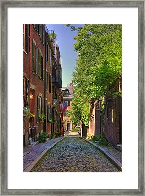 Summer On Acorn St. Framed Print