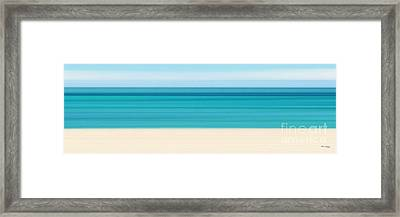 Summer On The Beach Panoramic Framed Print by Mark Lawrence
