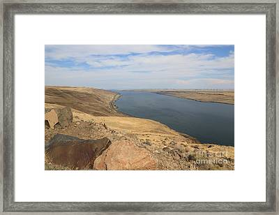 Summer On The Columbia River Framed Print by Carol Groenen