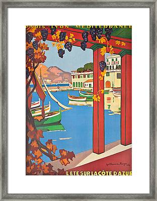 Summer On The Cote D Azur Framed Print by Guillaume Georges Roger