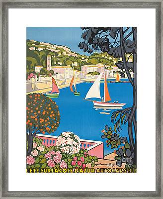 Summer On The Cote D'azur Framed Print by Guillaume Georges Roger