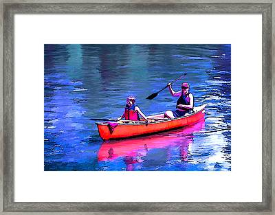 Summer On The French Broad River Framed Print