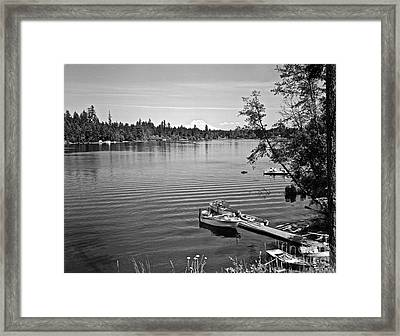 Summer On The Lake Framed Print by Merle Junk
