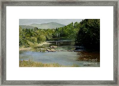 Summer On The River In Vermont Framed Print