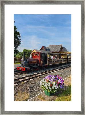Summer On The Train Framed Print by Ian Mitchell