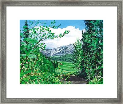 Summer Paradise Framed Print by Barbara Jewell