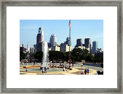 Summer Philly Skyline Framed Print by Christopher Woods