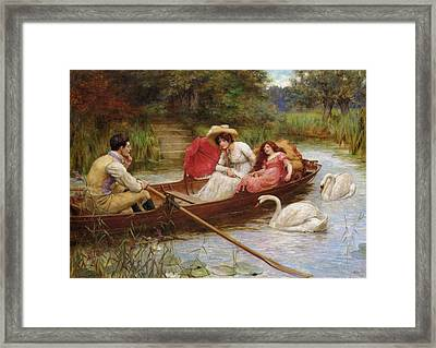 Summer Pleasures On The River Framed Print by George Sheridan Knowles