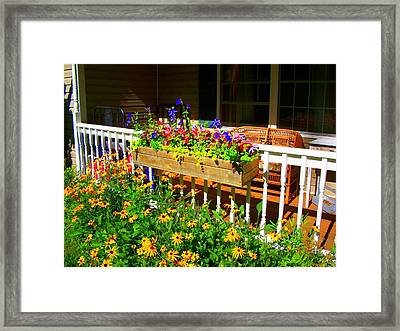 'summer Porch' Framed Print