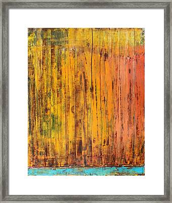 Framed Print featuring the painting Summer Oil On Board 16 X 20 by Radoslaw Zipper