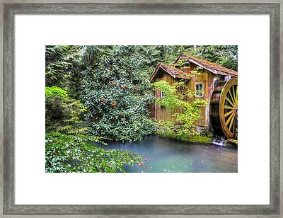 Summer Rain At The Watermill Framed Print by Eti Reid