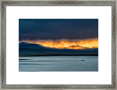 Summer Rainstorm At Crowley Lake Framed Print by Cat Connor