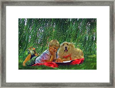 Summer Reading Framed Print
