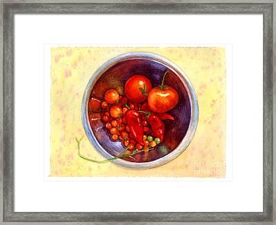 Summer Reds Framed Print by Isabella Kung