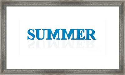 Summer Reflected Framed Print