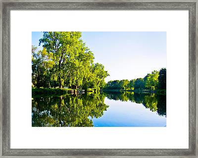 Summer Reflections Framed Print by Sara Frank