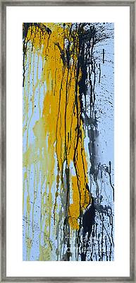 Summer Rein- Abstract Framed Print by Ismeta Gruenwald