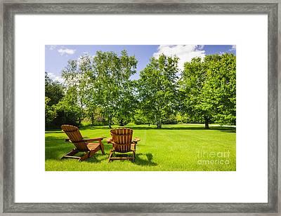 Summer Relaxing Framed Print by Elena Elisseeva