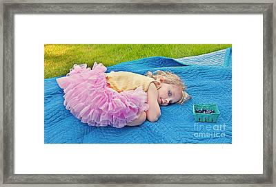 Summer Rest With Blueberries Framed Print