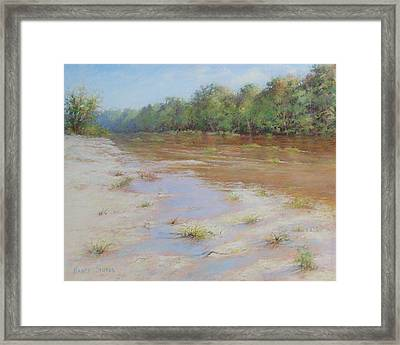 Summer River Framed Print by Nancy Stutes