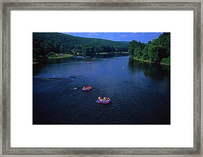 Summer River Tubing Delaware River Pa  Framed Print by Blair Seitz