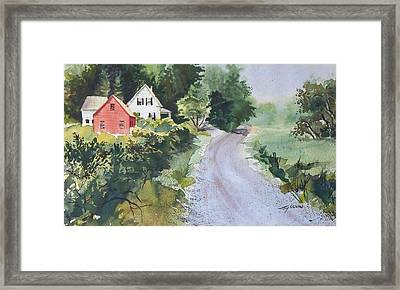 Framed Print featuring the painting Summer Road by Joy Nichols