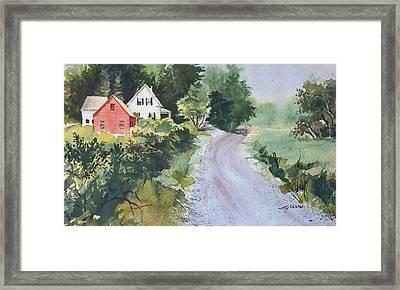 Summer Road Framed Print by Joy Nichols