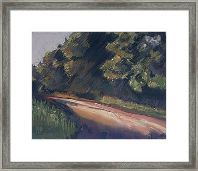 Framed Print featuring the pastel Summer Roads by Grace Keown